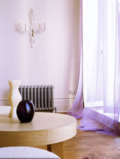 紫色卧室空间