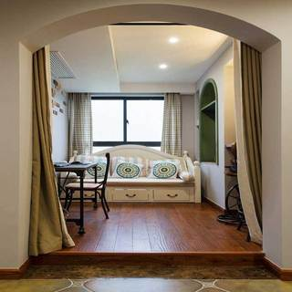 混搭风格三居室110平米设计图