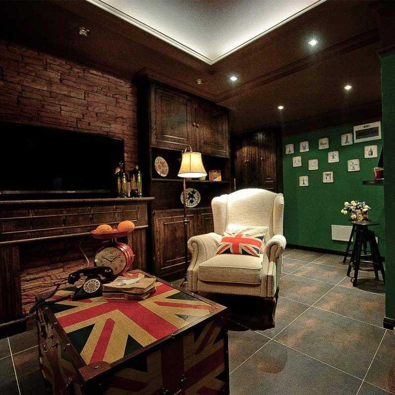 美式风格三居室50平米设计图