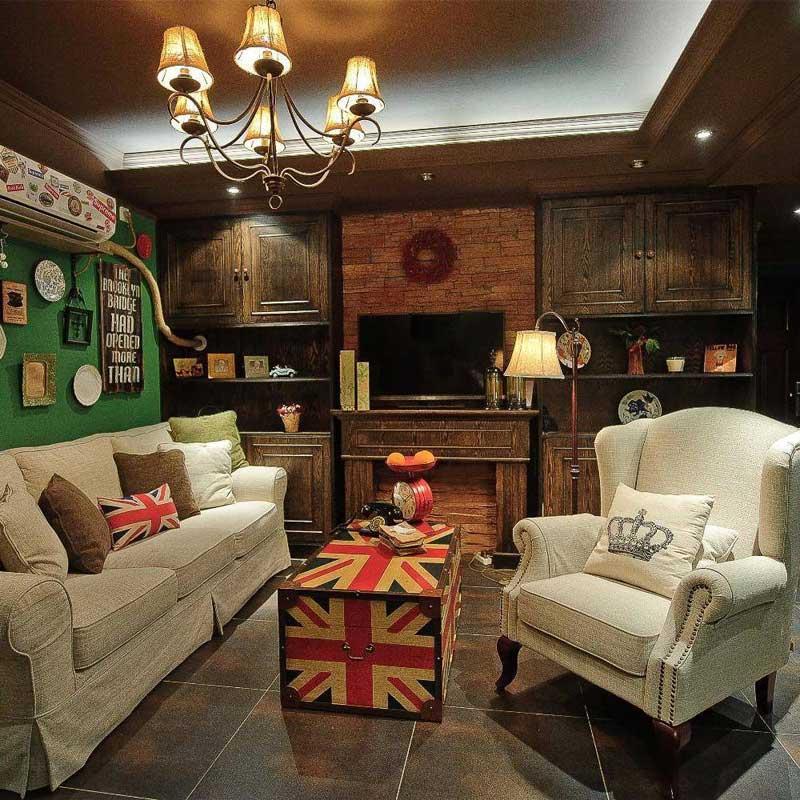 美式经典客厅设计效果图