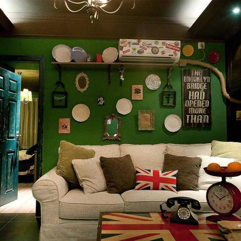 美式沙发背景墙设计效果图