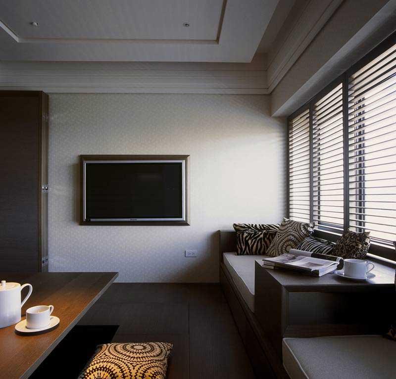 现代简约风格三居室实用100平米效果图
