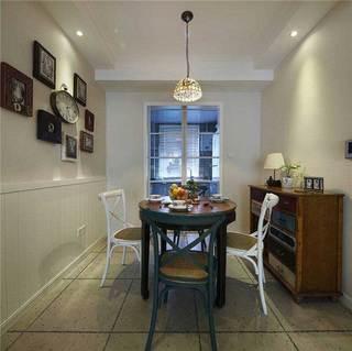美式风格三居室90平米装修图片