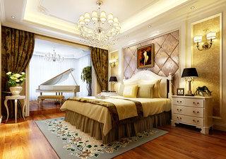 浪漫卧室落地窗设计