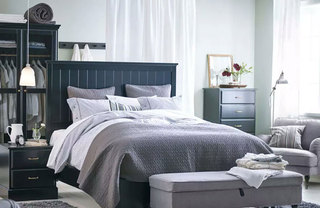 冷色调宜家卧室设计