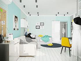 北欧风情单身公寓 当柠檬黄遇上了薄荷绿