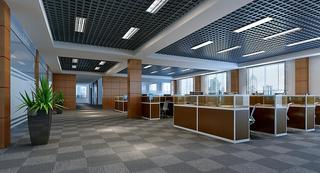 写字楼办公区隔断装修效果图