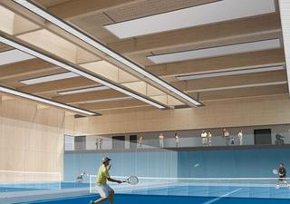 网球室设计效果图