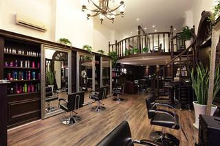 美发店铺大厅设计装饰效果图