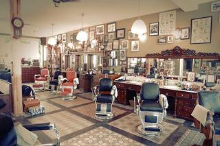 美式美发店设计效果图片欣赏