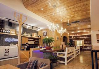 现代咖啡厅吊顶装饰效果图片