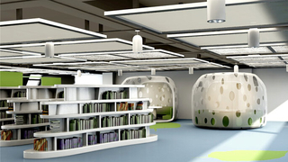 學生圖書館設計室內裝修圖片
