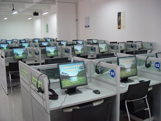 電子圖書館室內裝飾效果圖片