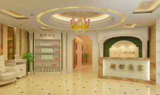 美容院室内吊顶装饰设计图片