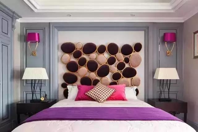 时尚紫色灰色卧室
