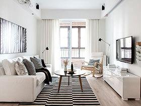 北欧风格装修图片 90平米舒适空间