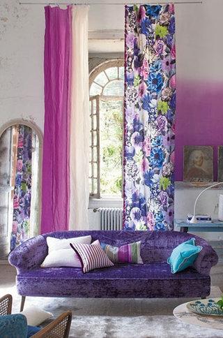 紫色客厅效果图