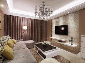 活泼有韵味 100平米两室一厅装修效果图