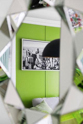 绿色沙发背景墙设计
