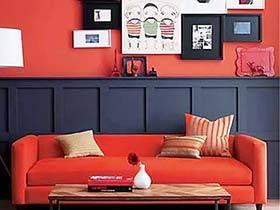 红色添年味 10个喜庆红色客厅背景墙装修