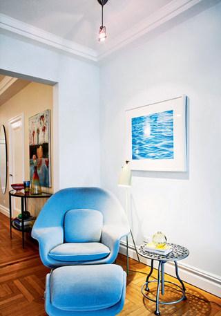 蓝色休闲沙发图片