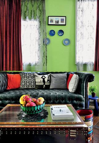 绿色沙发背景墙装修效果图
