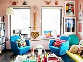 多彩艺术混搭风公寓 生活不能没有色彩
