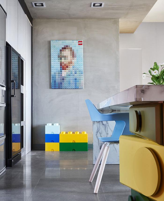 工业风厨房背景墙装修效果图