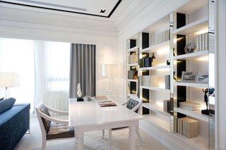 白色书房装修效果图