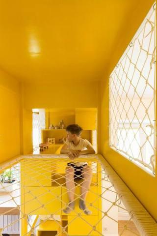柠檬黄儿童房装修效果图