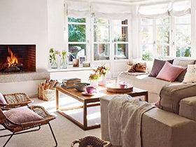 清新不冷感 89平温馨木色两居室装修图片