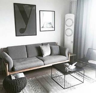 灰色客厅平面效果图