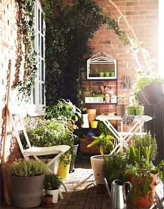 绿色清新阳台花园装修