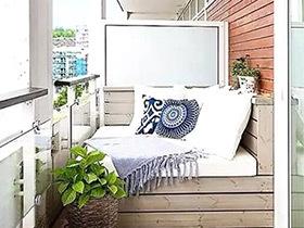 懒癌患者的春天 12个舒适阳台装修图片