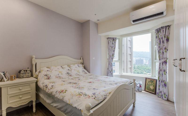 浪漫浅紫色简欧风卧室效果图
