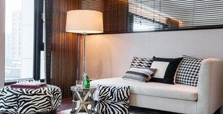 舒适东南亚风情 米色布艺沙发设计