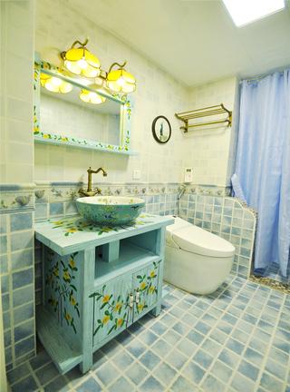 清新美式卫生间马赛克瓷砖设计