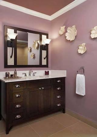 紫色系卫生间平面设计图