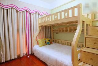 浅绿色宜家风儿童房设计图片