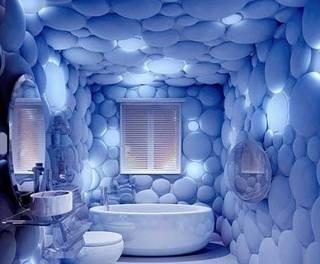 蓝色卫生间装修图片