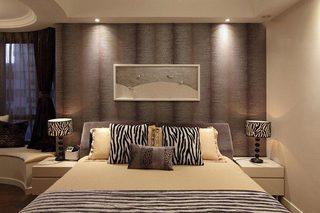 129㎡咖色简约风卧室背景墙装饰装修图