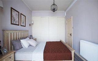 浪漫淡紫色简约风 卧室背景墙设计