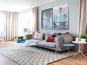 浅蓝色很美好的空间  北欧公寓装修十分清新