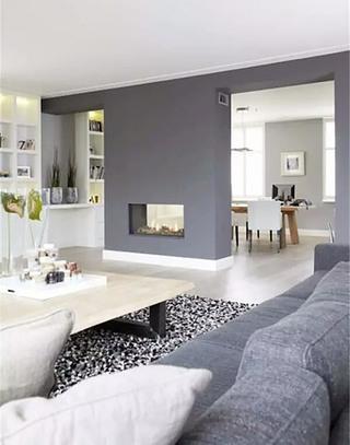 大气灰色客厅装修图片