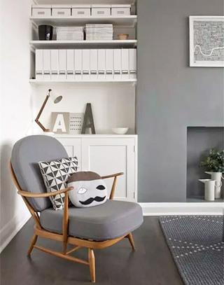 灰色客厅装修设计图