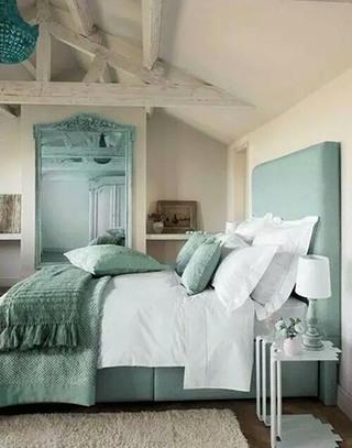 薄荷绿色卧室效果图