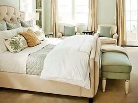 10个绿色卧室装修图 碧波荡漾才能更好眠