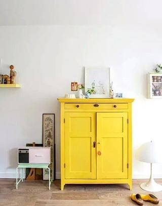 黄色玄关柜装修图片