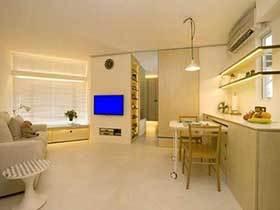 39㎡单身公寓设计实景图  木色精巧之选