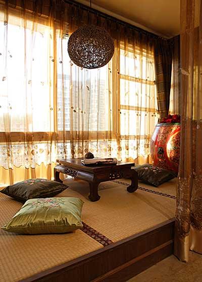 小房间必备  10款榻榻米床装修效果图